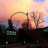 Sonnenuntergang, Blick Richtung Liseberg