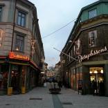 Einkaufsstraße in Göteborg mit Butterick`s und Josephssons