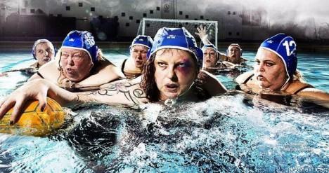 Harte Wasserball Frauen