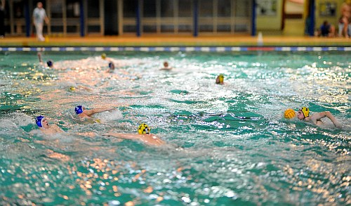 Water Polo Tilt-shift Foto 1