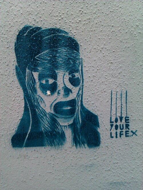 Stencil-Graffiti in Dresden-Neustadt