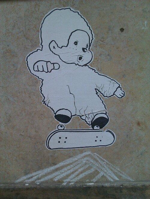 Skateboarding Monchhichi