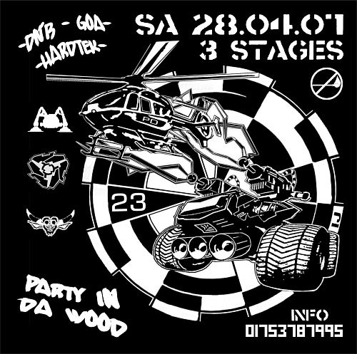 freeparty on 3 floors in da wood dresden