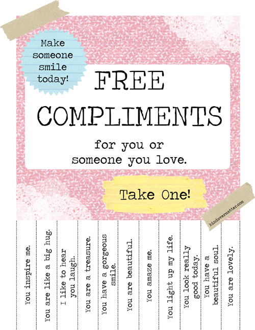 Free Compliments Poster