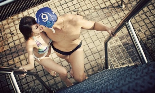 Pre-Wedding Water Polo Photo
