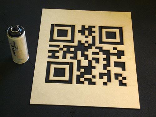QR Code Stencil Generator