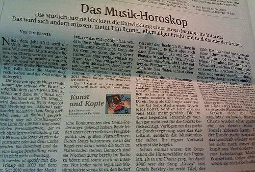 Tim Renners Musik-Horoskop 2012